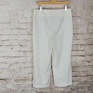 Bar III White Geneva Crop Pants 4 NWOT